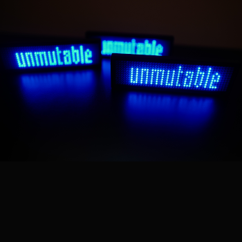 Untitled (unmutable), the edition of three.